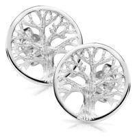 MATERIA Lebensbaum Ohrstecker Silber 925 rund - Ohrringe keltisch Damen 9 14 mm
