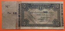 BILBAO 10 PESETAS 1937 @VARIANTE MATRIZ TROQUELADA@ Pick S562 BANCO DE VIZCAYA