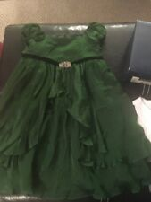 Ralph Lauren Dress Green Silk 6 Nwt $240
