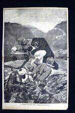 Un incidente nell'Indo Koosh - Un abbracciamento pericoloso  Incisione del 1885
