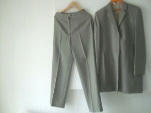 Lovely Ladies M&S Marks And Spencer 100% Wool Coat Trouser Suit Size UK 12 14