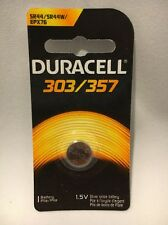 1 NEW DURACELL 303/357 SR44 LR44 SR47 SILVER OXIDE BATTERY FREE SHIPPING