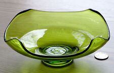 VIKING green EPIC four point BOWL glass HAND MADE U.S.A. Midcentury Modern