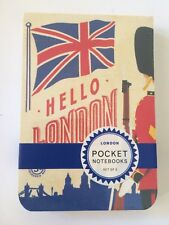 "NEW Cavallini & Co ""LONDON"" Pocket Notebook Set of 2 Small Lined 2.75""x4"" Vtg"