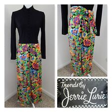 1970s VINTAGE DRESS~Jerrie Lurie BLACK MAXI COCKTAIL EVENING HOSTESS GOWN Sml