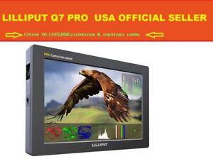 """LILLIPUT 7"""" Q7 Pro HD SDI HDMI custom 3D LUTS,HDR,calibration & adjustable gamma"""