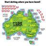 Funny Aussie Travel Map Sticker Aussie Car Flag 4x4 Funny Ute #7119EN