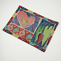 Valentine's Day Heartley Love Hearts Single Tapestry Placemat