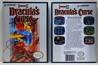 Castlevania 3 Dracula's Curse - Nintendo NES Custom Case - *NO GAME*