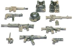 BrickArms Camo Combat Pack Alpha Waffen Set, Custom für LEGO® Figuren