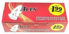 200 4 Aces King Size Cigarette Filter Tubes Empty