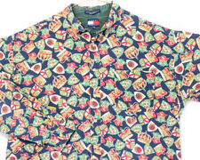 Vintage Tommy Hilfiger All Over Print Shirt Royal Crown Crest Graphic Xl Logo