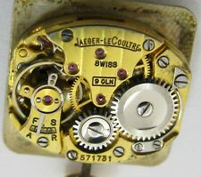 LeCoultre 9OLN Lady watch movement 17 jewels for parts ... gold plated ...