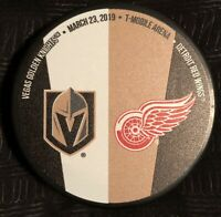 Detroit Red Wings Vs. Vegas Golden Knights Match-up Puck 03/23/2019 (200 Made)