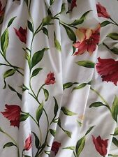 "Quality Ready Made Lined Curtains 100"" Wide X 90"" Drop Floral Lily Design"