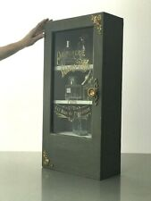 REPURPOSED ART NOUVEAU, BATHROOM DISPLAY CABINET. FRENCH PERFUME BOTTLE GRAPHICS