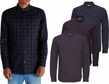 JACK & JONES Men's Slim Long Sleeve Casual Shirts & Tops