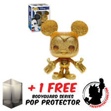 FUNKO POP DISNEY MICKEY MOUSE GOLD DIAMOND GLITTER EXCLUSIVE FREE POP PROTECTOR