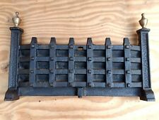 "Vintage Old Ash Pan Cover Fire Fret Grill Grates Fort CASTLE 10""x15.5"" front"