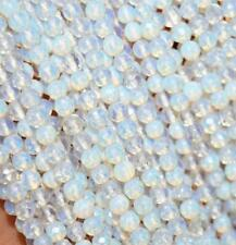 6mm AAA Natural White Opal Gemstone Faceted Round Loose Beads 15''