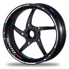 FELGENRANDAUFKLEBER passend für BMW S1000RR Motorrad - Moto GP Style blau-rot