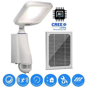 Solar Powered LED Motion Sensor Security Light Dusk to Dawn 800LM SMART Lamp