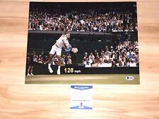 Roger Federer Hand Signed 11x14 Photo Tennis Switzerland Beckett BAS CERT