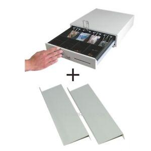 Kassenlade Kassenschublade manuelle Öffnung Touch mit Unterbauwinkeln weiss