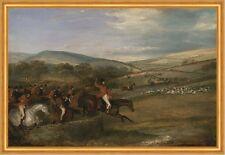 The Berkeley Hunt: Full Cry Francis Calcraft Turner Pferde Jagd Hunde B A2 01826