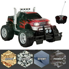 Red RC Big Wheel Monster Truck Off Road High Speed Remote Control Car w/ Lights
