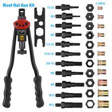 Arma de remache Kit de herramienta de configuración de Remache Roscado Hilo Setter tuerca NUTSERT métrica SAE Remachado
