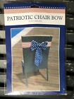 Stars And Stripes Patriotic Chair Bow Red White Blue