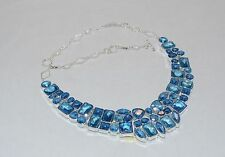 Dazzling Statement Necklace,Bright Aqua Blue, NWT!