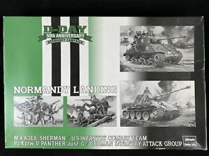 1994 HASEGAWA D-DAY 50TH ANNIVERSARY NORMANDY CAMPAIGN LIMITED EDITION Open Box