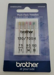 Brother Sewing Machine 5 Needles 3 Sizes (75/11, 90/14, 100/16)