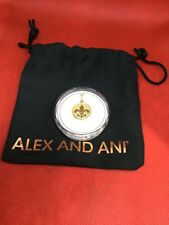 .925 sterling silver & 14Kt gold plated Alex and Ani Fleur De Lis Necklace Charm