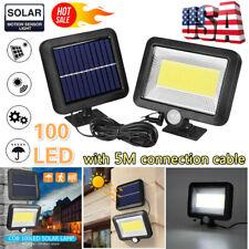 100 LED Solar Power PIR Motion Sensor Outdoor & Garden Light Security Flood Lamp