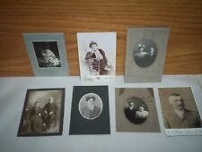Lot of 7 Antique Cabinet Mounted Photographs : Detroit MI + Parkhill ON & MORE!