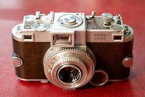 "Kodak Ektar 35mm F3.3 lens for Ektra rangefinder (""US Leica"") + rare viewfinder"