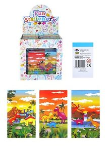 Notebook Dinosaur 3 Assorted Designs Kids Party Bag Fillers Taking Notes