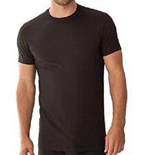 Zimmerli Piqué T-Shirt feinster Baumwoll-Modal Mix Extraklasse schwarz, S=46-48