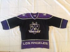 Purple Pre-owned Los Angeles Kings Starter Jersey Size Medium No Name On Back