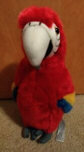 """FAO Macaw Parrot Bird Plush Stuffed Toy Animal Toys""""R""""US Great Condition 12"""""""