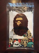 BAPE A Bathing Ape X Dragon Ball White Ape Head T-shirt Size Small FREE SHIPPING