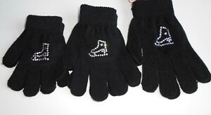 Ice Skating Gloves with Crystal Motif - Child and Adult Sizes