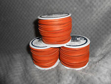 "(1) REALEATHER LACING, BURNT ORANGE COLOR 50' SPOOL 1/8"" WIDE. VERY NICE."