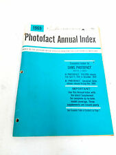 Vintage 1969 Howard W Sam's photo fact annual index book