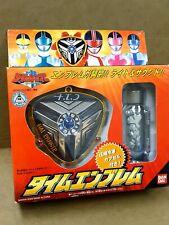 Mirai Sentai Timeranger Time Emblem Badge BANDAI JAPAN Power Rangers Timeforce