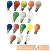 15w 25w B22 E27 Colour Light Bulbs Red Blue Green Pink Amber White | Pack of 2