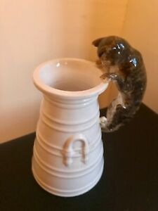 Antique Vintage Copeland Spode Cat And  Dairy Milk Churn Late 1800s